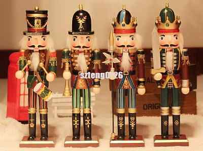 12'' Luxury Wooden Nutcracker Soldier Xmas Traditional Style Handmade Decorate