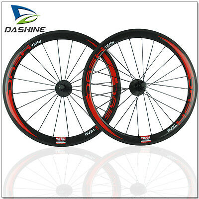 700C 50mm Depth Clincher Carbon Wheels Bicycle Road Bike Light Wheelset