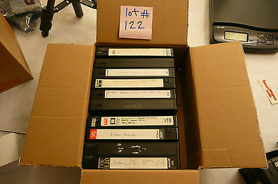 Used Blank / Recorded Vhs Tapes * Lot Of 10 Blank / Recorded Vhs Tapes. Lot #122