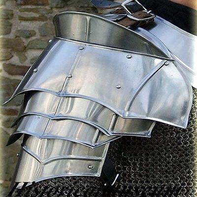 Medieval 18g Steel Avenger Pauldrons Set free shipping  DGSY78