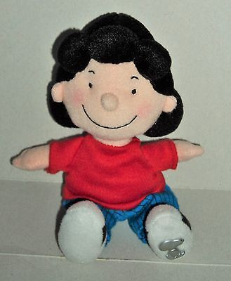 """Official Peanuts Lucy From Snoopy Plush 8"""" Beanie Soft Toy"""
