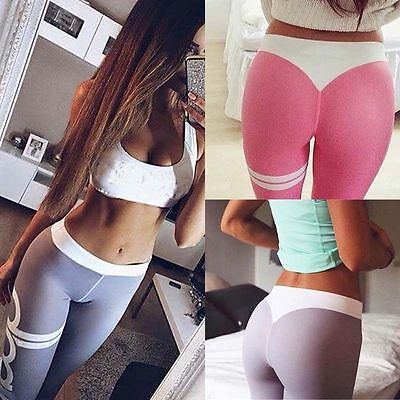 EFA2Z Womens Sports Leggings Fitness Yoga Gym Running Jogging Colorful Trousers