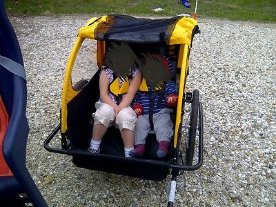Double Bike Trailer Seat For Children, Good Condition