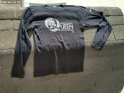 QUEEN News of the World American Tour 1977 Shirt Vintage TenQ large