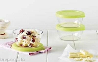 Tupperware Clear Mates 290ml Clear Bowls - Set of 3 - BRAND NEW