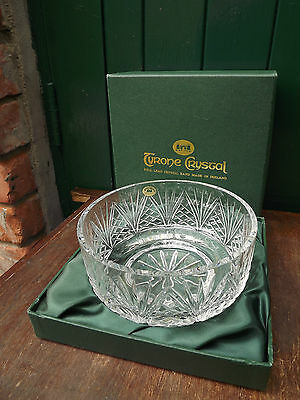 STUNNING Tyrone Crystal large footed Bowl Stunning piece Fully stamped & Boxed