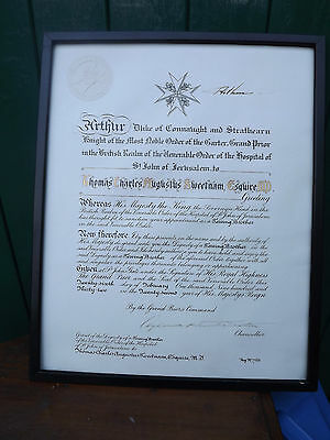 RARE 1932 Arthur Duke of Connaught signed address Order of the Hospital St John