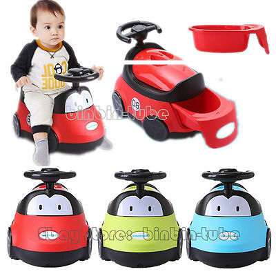 NEW Baby Kids Toddlers Potty Toilet Training Seat Cartoon Car-shaped Trainer Toy