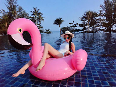New Swimming Pool Inflatable Giant Rideable Pink Flamingo Float Toy