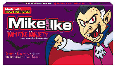 Mike and Ike Vampire Variety Candies - Brand New US Version 1 x Theatre Size Box