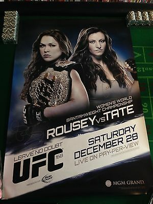Ufc 168 Limited Edition Poster Signed By Ronda Rousey And Miesha Tate Mma Rare