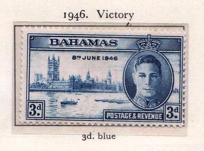 Bahamas 1946 Victory Set of 2 Stamps (SG 176/77) Mint