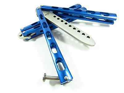 NEW Icetek Sports 44477 Metal Practice Balisong Butterfly Knife Trainer, Blue