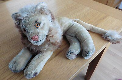 Old Steiff Lion   1960 With Button In Ear