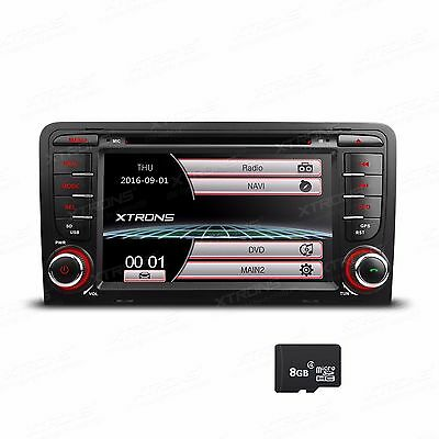 "XTRONS 7"" HD AUTORADIO für AUDI A3 S3 SD CD DVD USB GPS Navigation Bluetooth RDS"