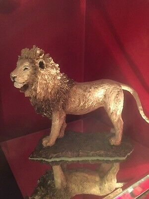 Stunning Gold Lion Sculpture Limited Edition
