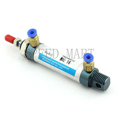 MAL16x50-CA Mini Pneumatic Air Rod Cylinder Stroke 16mm + M5*0.8 Male Connector