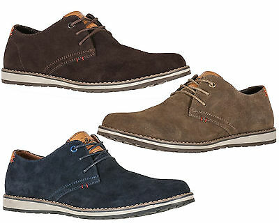 Mens Real Suede Shoes Genuine Leather Shoes Smart Office Formal Casual Party