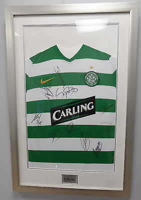 Celtic Football Shirt Signed by 10 players at a Bargain Price