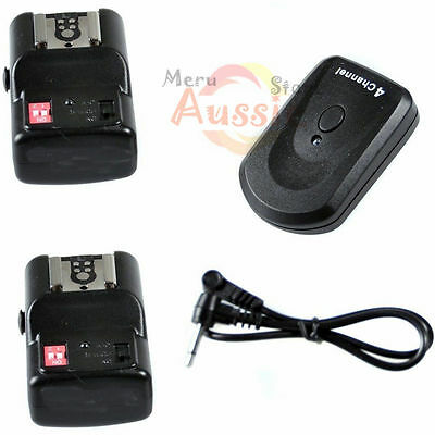 4 Channel Wireless Flash Trigger Receiver Remote Control For Nikon Canon Pentax