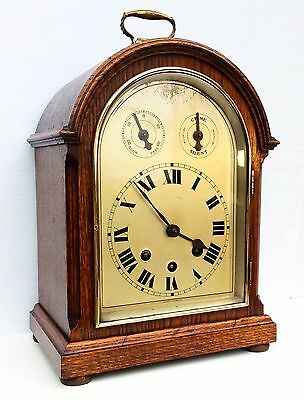 Wurtemburg Oak Westminster Chiming Bracket Clock Circa1900