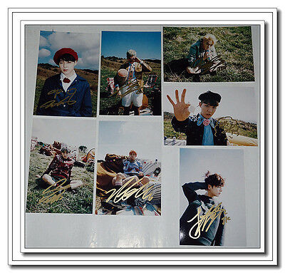 Signed BTS Bangtan Boys ALL7Member Young Forever Photo SET Hand Autograph 0827A