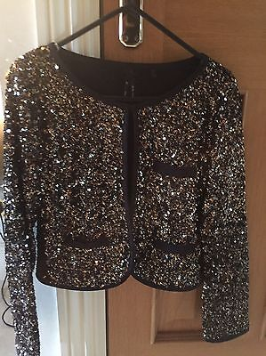 Girls Age 11 Fully Sequinned Jacket