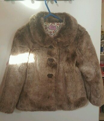 Girls faux fur coat age 2-3