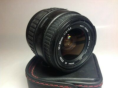 Sigma DL Zoom 35-80mm f3.5-4.5 AF Auto Focus Zoom Lens for Canon EOS Fit