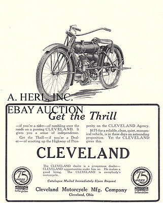 Cleveland motorcycle advertisement ca 8 x 10 print
