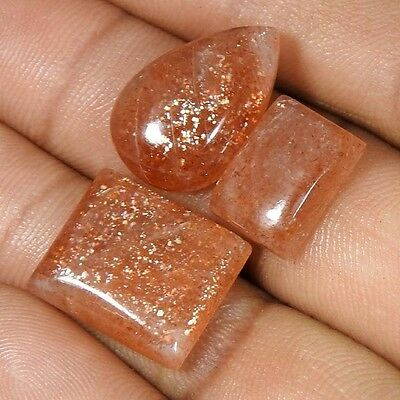 Wholesale Lot 27.10Cts Natural Chatoyant Red Sunstone Mix Cab Loose Gemstone