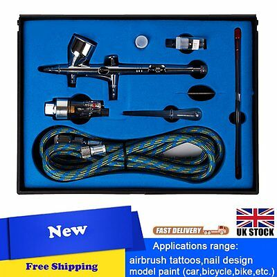 Double-action Trigger Air-paint Control Airbrush SP180K 0.2/0.3/0.5mm Needle New