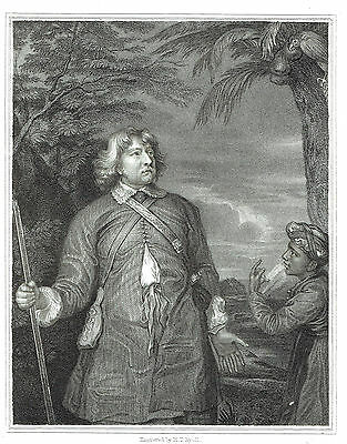 William Feilding, 1st Earl of Denbigh - Naval Officer - Engraving after Van Dyke