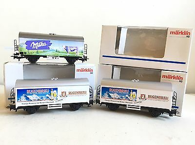 MARKLIN- HO GAUGE- MILK and BEER WAGONS - BOXED