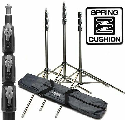 3 Set Light Stands Carry Bag Support Base Tripod Photo Studio Video Photography