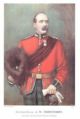Alexander Whitelaw Thorneycroft. - British Army Commander - c1899