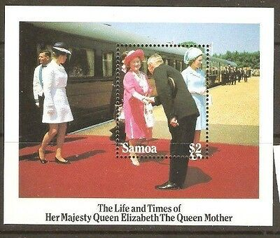 Samoa 1985 SG 704 Life and Times Queen Mother miniature sheet
