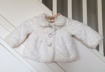 6-9 Months Old Baby Kids Girls Faux Fur Fluffy Party Coat Winter Jacket