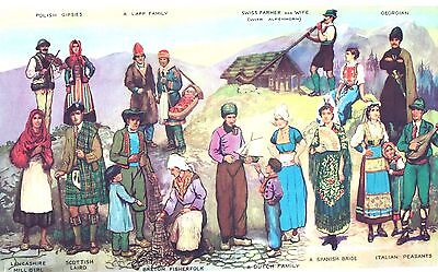 """Costumes of Europe"" (18 Portraits) Vintage Lithograph - by Ogle 15"" x 21"""