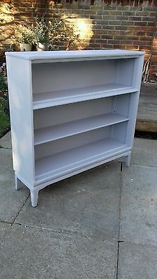 bookcase wooden painted shabby chic