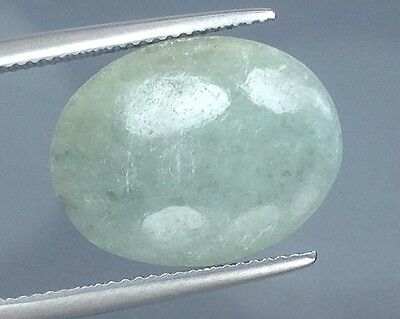 11.60Cts Wow !!! Gorgeous Natural Green Jade Gems Oval  (4272)