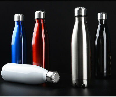 Water Flask Thermos Stainless Steel Bottle Double Wall Vacuum Insulated Gift 1L
