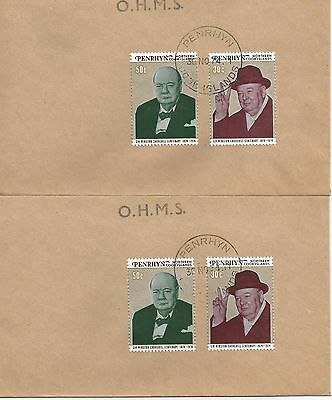 Two Ohms Penrhyn Covers With Stamps Of Winston Churchill 1974 Ref 384