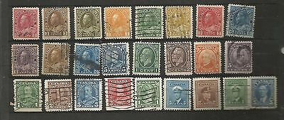CANADA    KING GEORGE V  USED SELECTION OF DEFINITIVES  ref 144