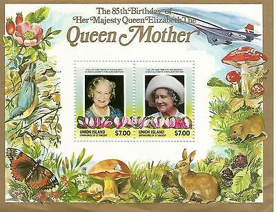 85th BIRTHDAY OF HER MAJESTY THE QUEEN MOTHER MINIATURE SHEET REF 316