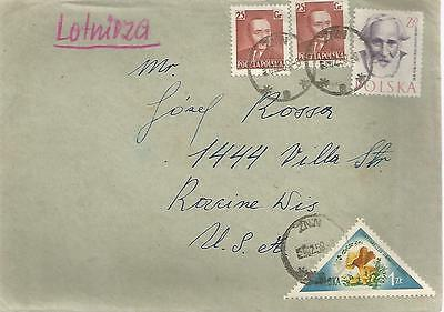 Poland 1959 Letter From Bydgoszcz To Usa Ref 407