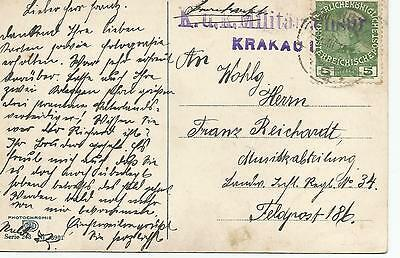 K.U.K MILITARY CANCEL ON 1915 POSTCARD ON 5pf  REF 210