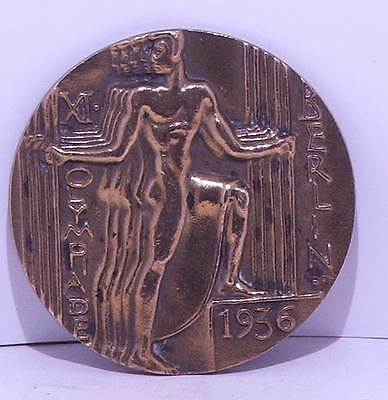 1936 Berlin Olympic Games Participation Medal  H.Noack designed by Otto Placzek