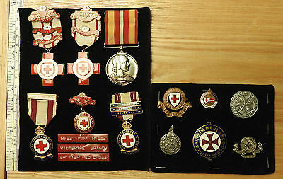 WW2 Military British Red Cross Society Nursing Medal Group With Badges (3677)