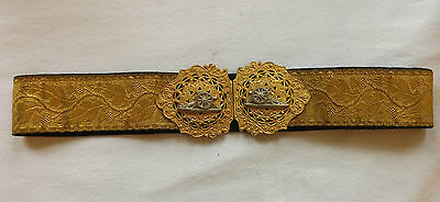 Military Victorian Officers Gilt Dress Belt Clasp Buckle Royal Artillery (2930